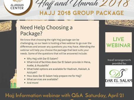 Dar El Salam's 2018 Hajj Packages Webinar