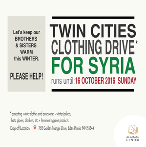 Be part of this cause. Let's keep our Syrian brothers and sisters warm this winter.