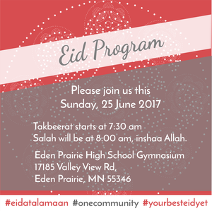 We wish you all a joyous and blessed Eid Mubarak!. Join us this Saturday, click here for direction