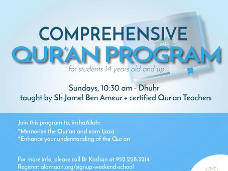 Comprehensive Qur'an Program