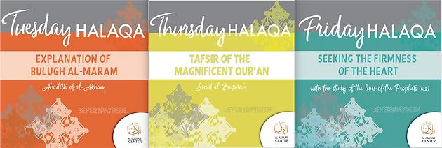 Our Evening Halaqaat will start after Isha prayer  | Eden
