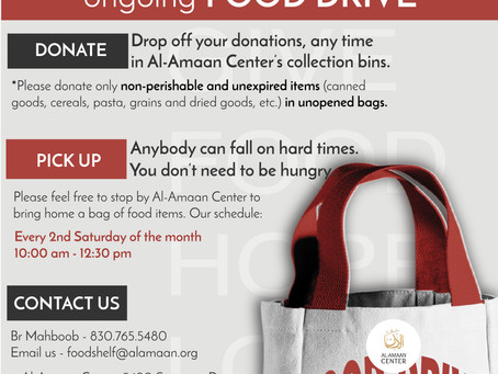 Al-Amaan Center's Food Drive