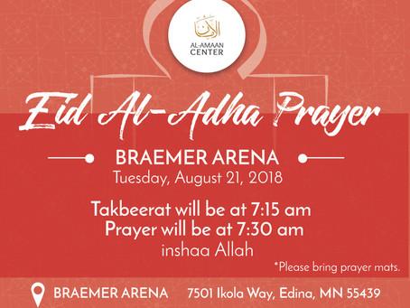Eid Al-Adha Prayer Service