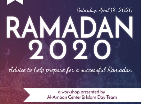 RAMADAN 2020 Workshop