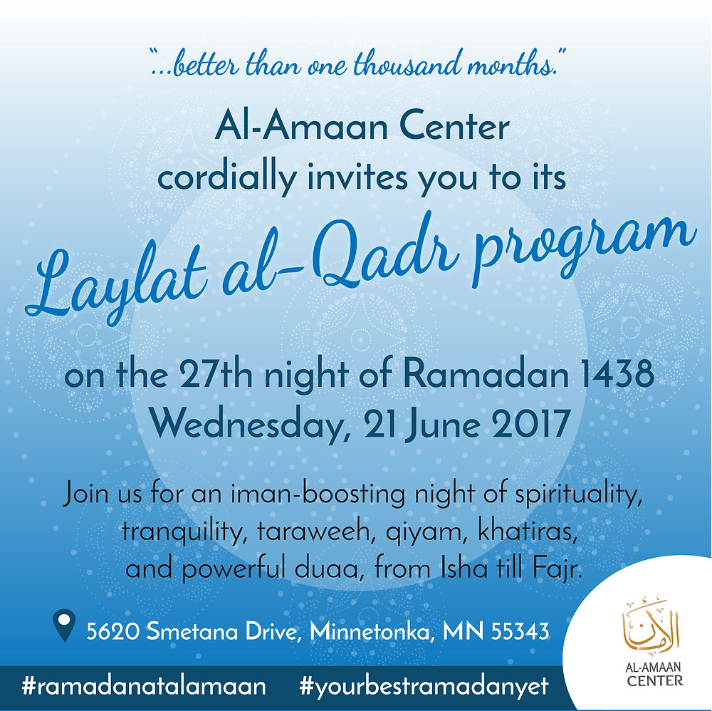 Please join us as we celebrate this holy night of Laylat al-Qadr