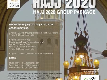 Reserve your spot for HAJJ 2020!
