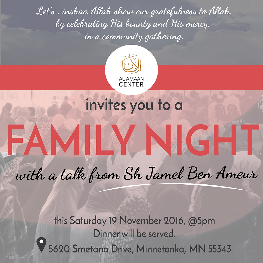 Join us in this special evening with family and friends. For directions, click here