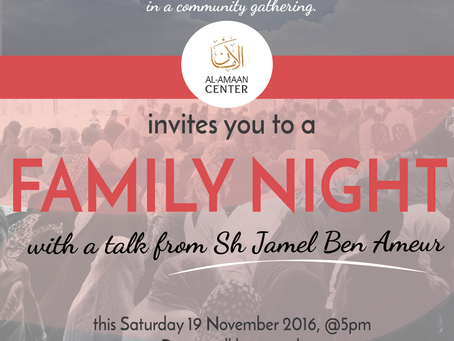 Let's give thanks and praise. Please join us in our First Family Night at our new home.