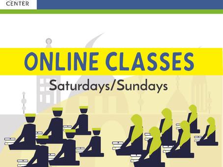 WEEKEND ONLINE CLASSES: Apr 4
