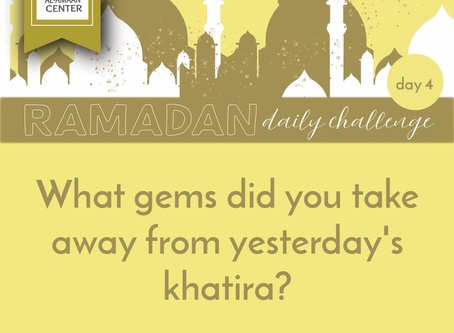 Join us: Ramadan Daily Challenge: Day 4