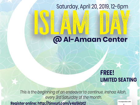 ISLAM DAY @Al-Amaan Center