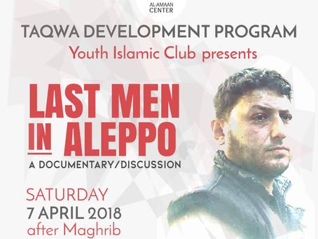 YIC presentation: LAST MEN IN ALEPPO