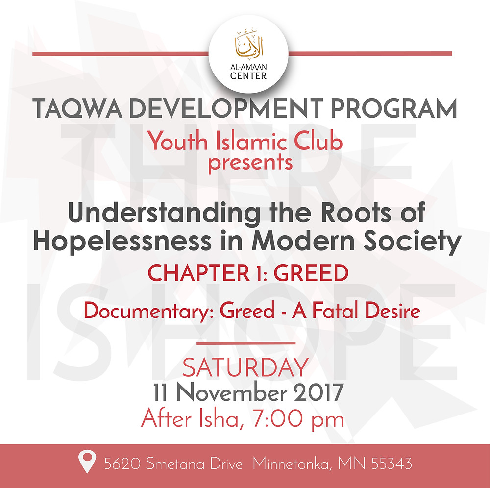 """Join us this Saturday for another YIC Presentation, """"Understanding the Roots of Hopelessness in Modern Society."""""""
