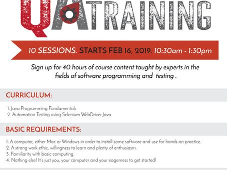 QA Automation Training starting Feb 16, 2019