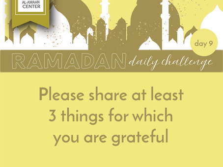 Ramadan Daily Challenge: Day 9
