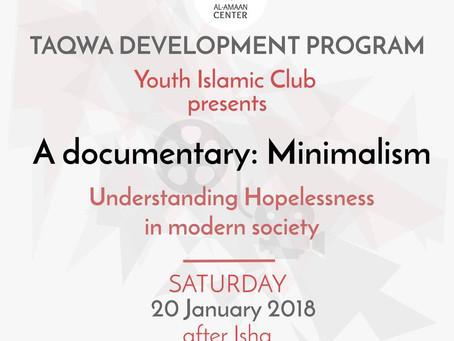 YIC: Minimalism   Understanding hopelessness in modern society