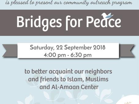 Bridges of Peace this  September!