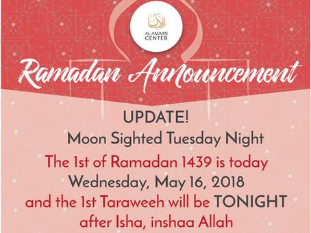 Ramadan Announcement