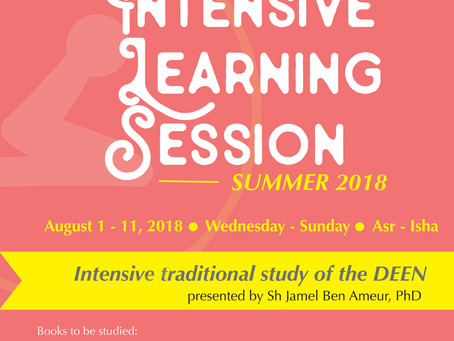 Intensive Learning Session (Traditional Study of the Deen)