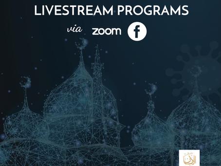Livestream Programs via Zoom &  Facebook Live