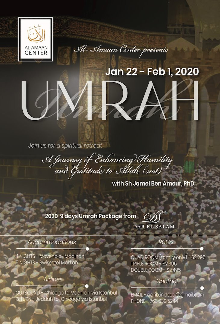 Umrah 2020 package from Al-Amaan Center + Dar El Salam Travel