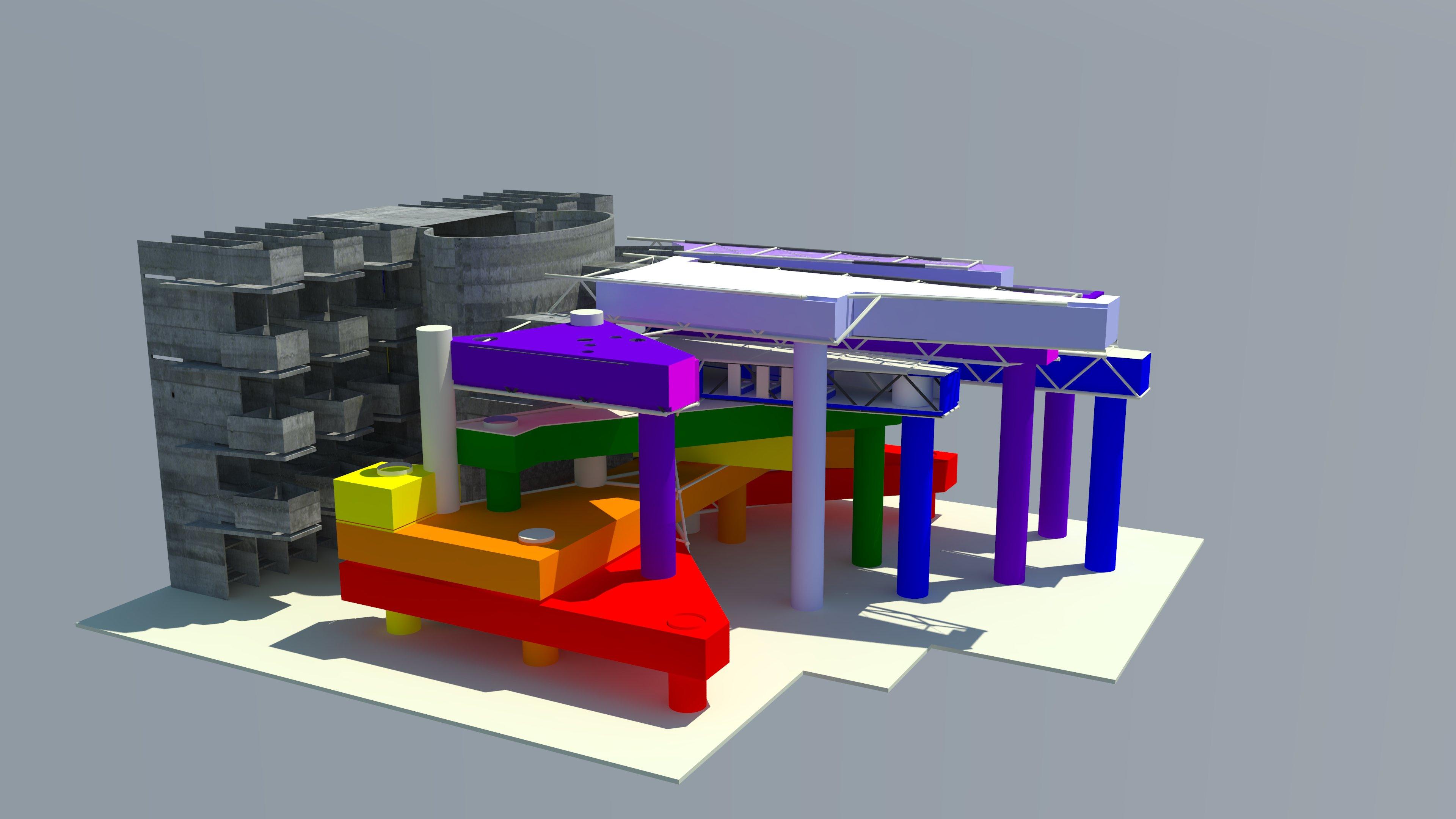 Large Site + Building Concept Model