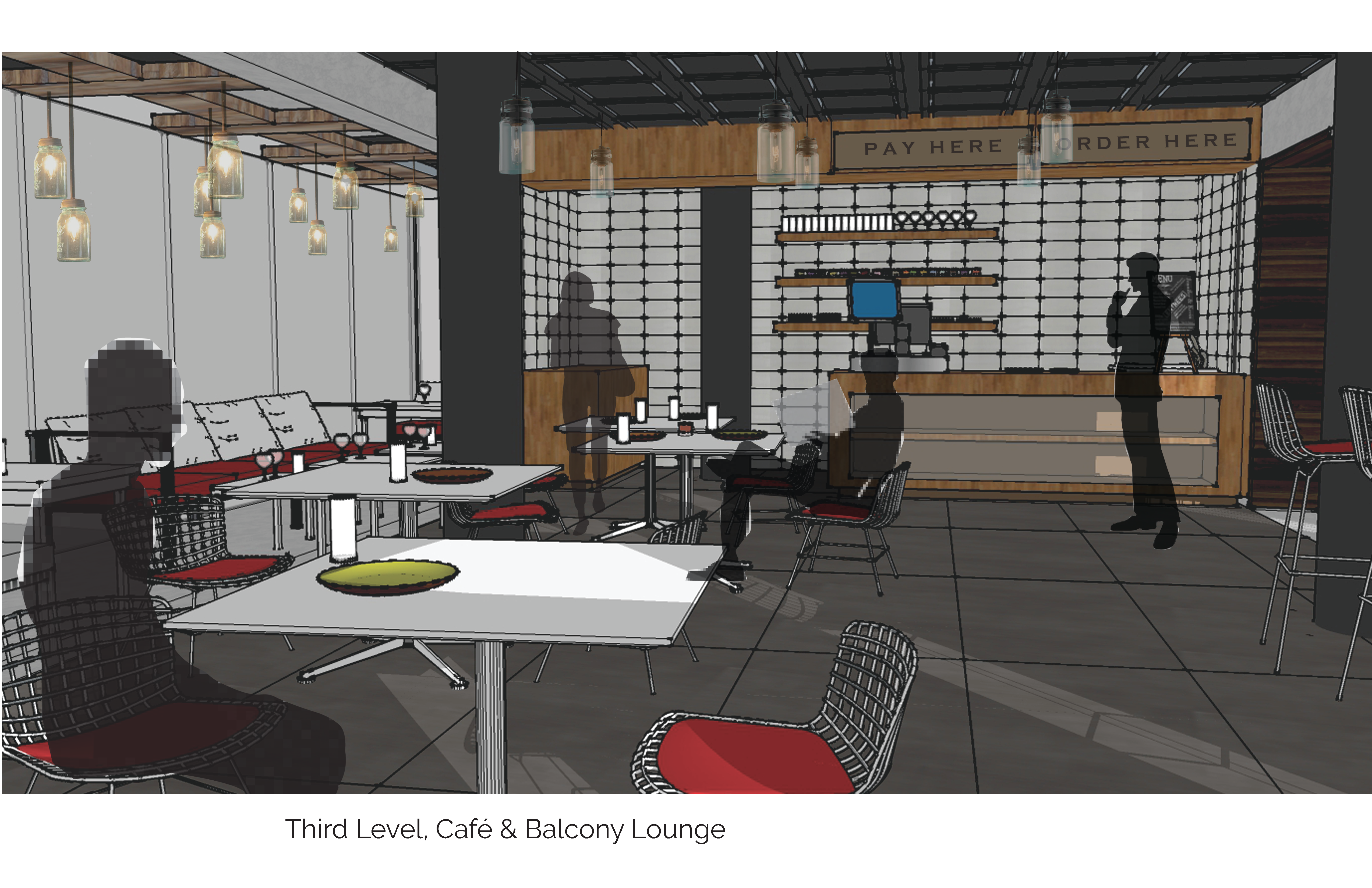Café Level Render
