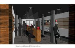 Street, Lobby Level Render