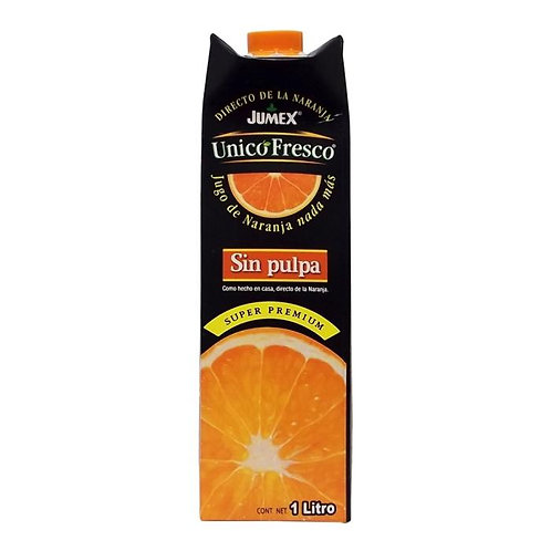 Jugo de naranja Jumex Unico Fresco sin pulpa 1 l
