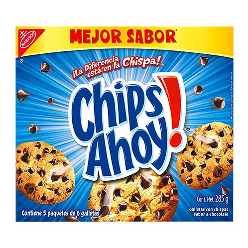 Galletas Chips Ahoy 5 paquetes de 6 galletas 285 g