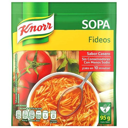 Sopa preparada Knorr fideos 95 g