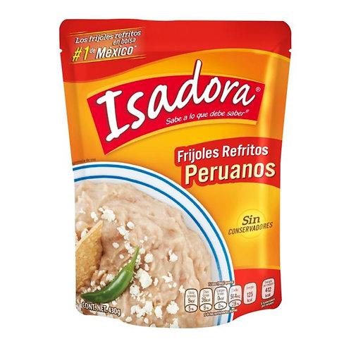Frijoles peruanos Isadora refritos en bolsa 430 g
