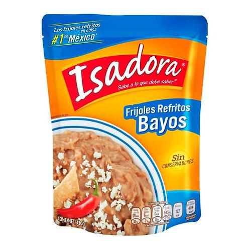 Frijoles bayos Isadora refritos en bolsa 430 g