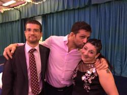 Chris, Alex Reid and Gina