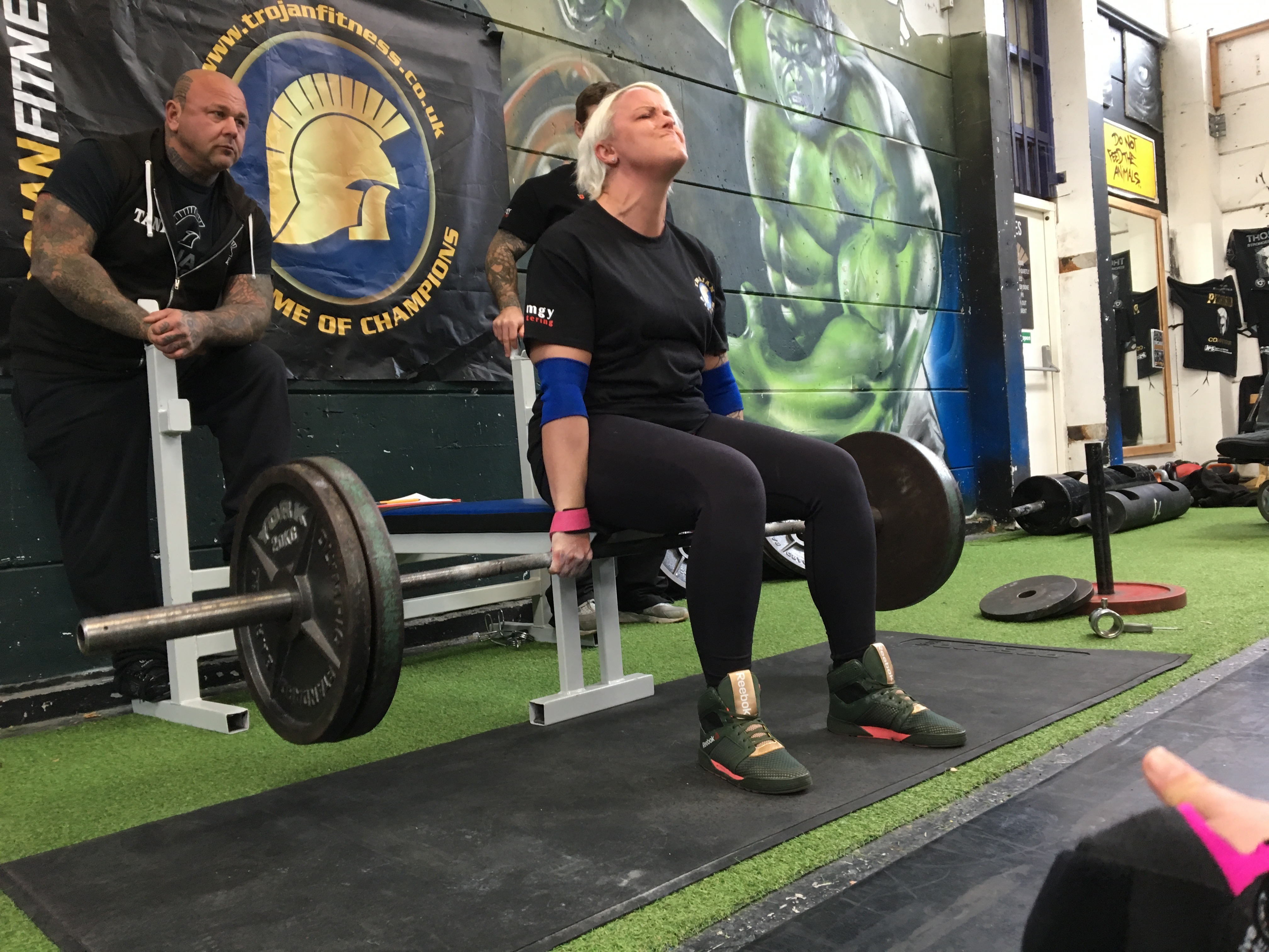 Adaptive Strongwoman seated deadlift