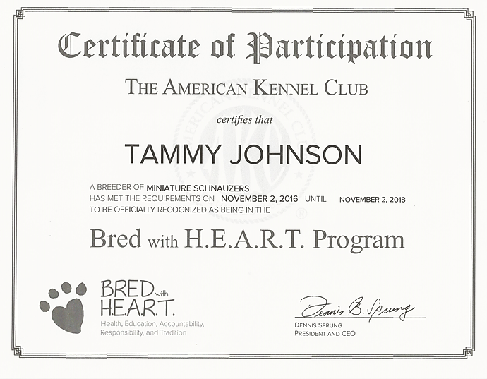 AKC Bred with Heart Program