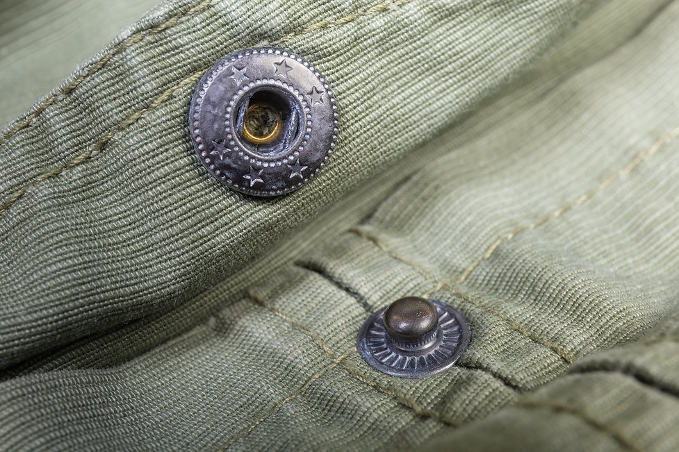 Two collapsible parts of the unbuttoned