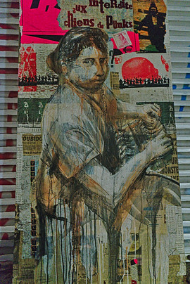 The Girl, Künstler*in: unbekannt, Hauswand Herfurthstr., Neukölln