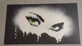 Eyes, Artist: #liz_art_berlin, Hobrechtstr., Neukölln, picture by Hilde Muffel