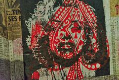Marilyn, Künstler*in: unbekannt; Hauswand Herfurthstr., Neukölln