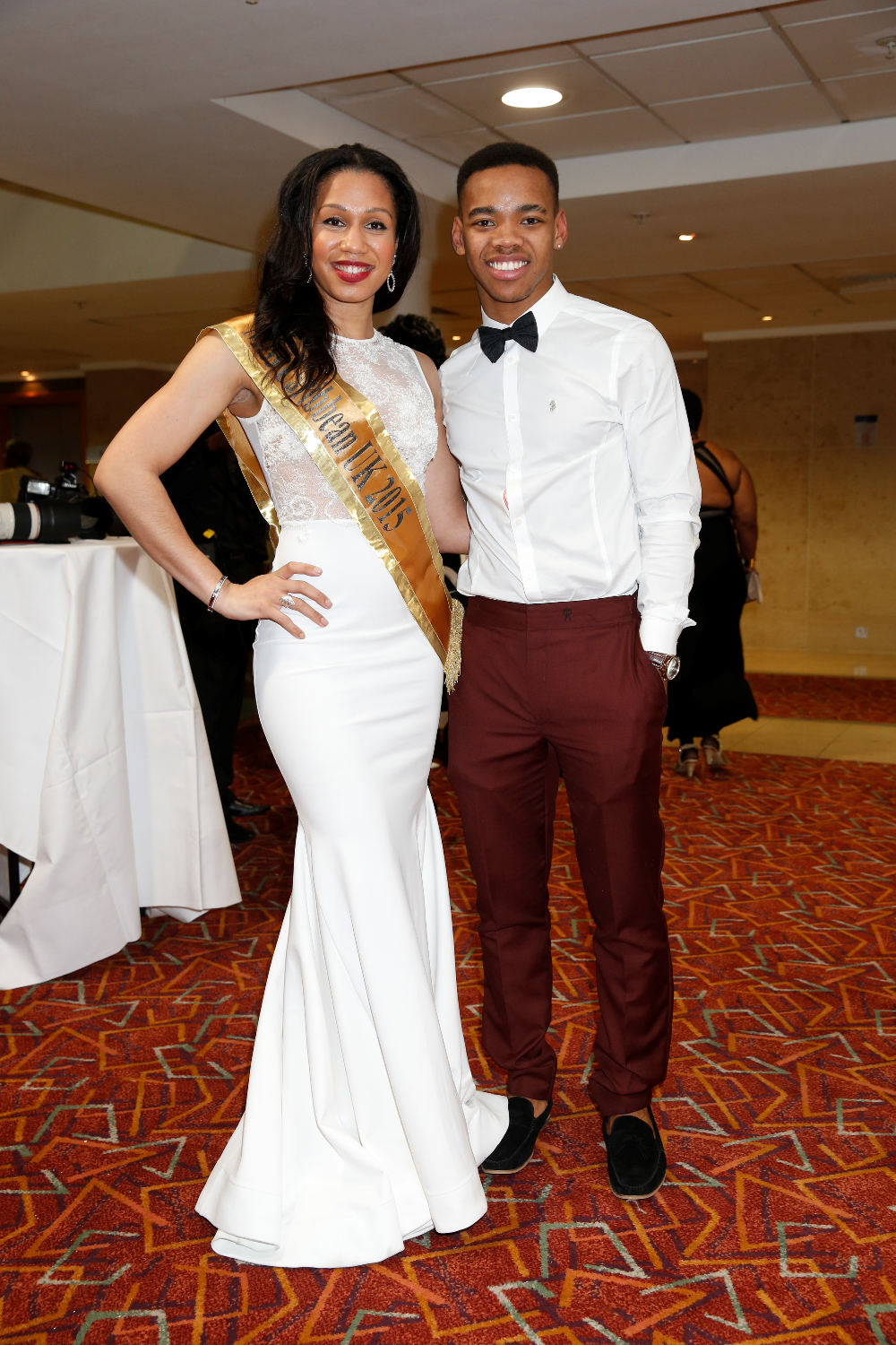 Amy Harris-Willock with Joivan Wade