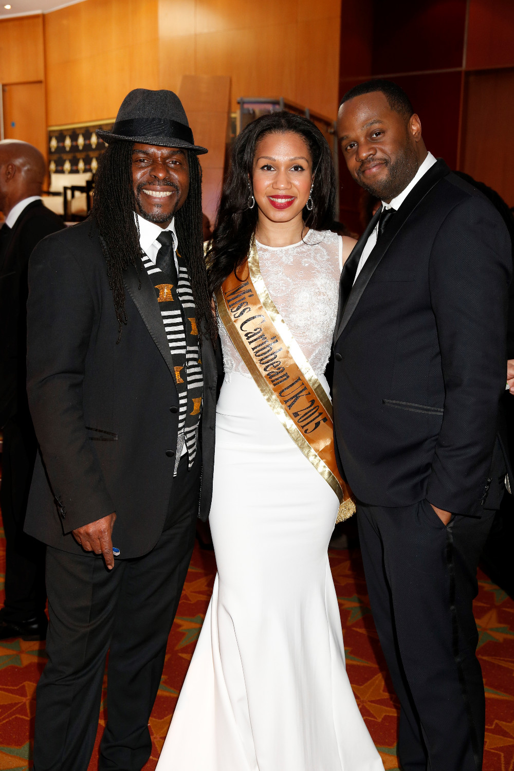 Amy Harris-Willock with Victor Romero Evans (singer) and Javone Prince (comediene)