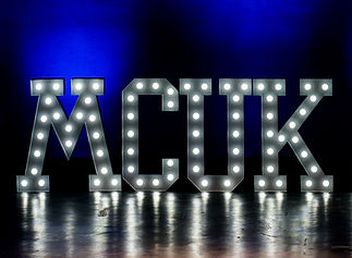 MCUK 2017 Lighted letters by: Just Occasionally Ltd, Photo by: MD40 Photography