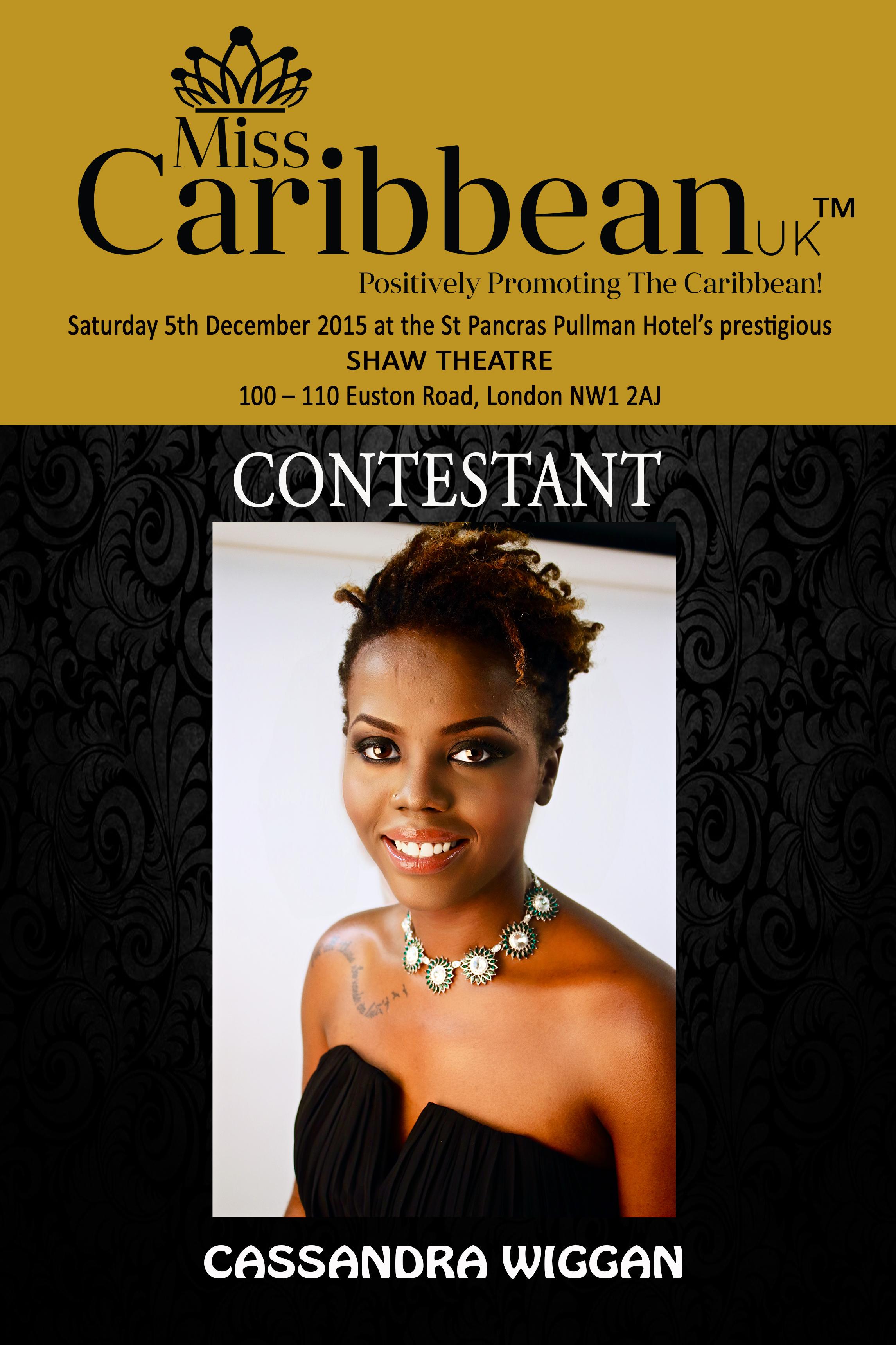 CONTESTANT - Cassandra Wiggan.