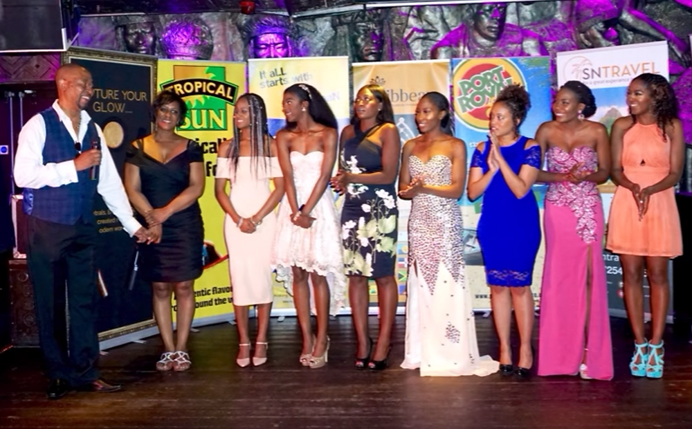 Founders Clayton & Jacqui Brown congratulating the London finalists: Tahirah Clarke, Atlanta Cousins-Robinson, Vanessa Sandy, Kamala Thompson, Maria Peters, Cheniel Henderson, and Tahmar Arayomi