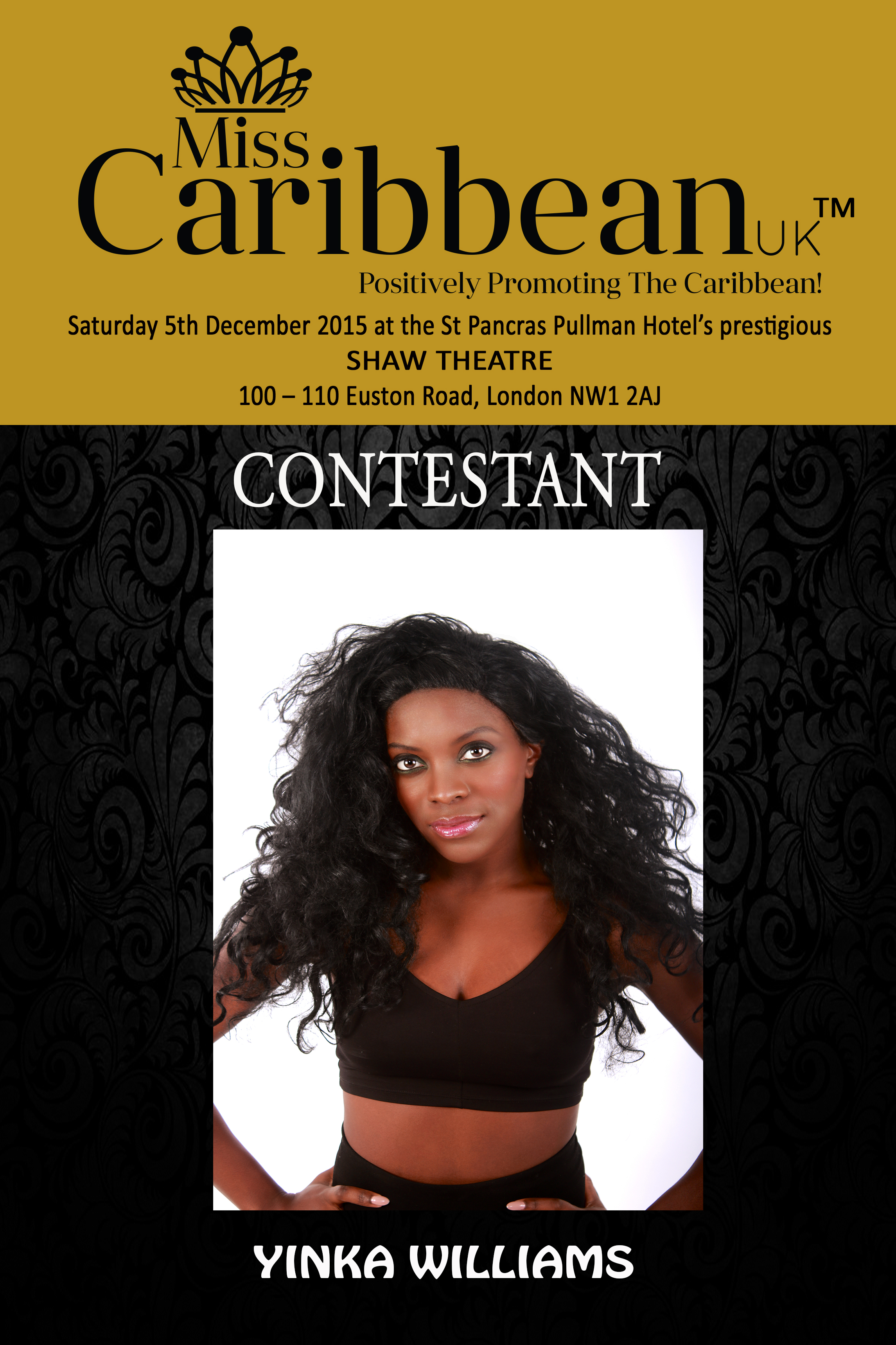 CONTESTANT - Yinka Williams.