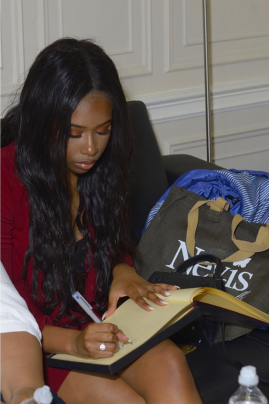 Tamera signing book