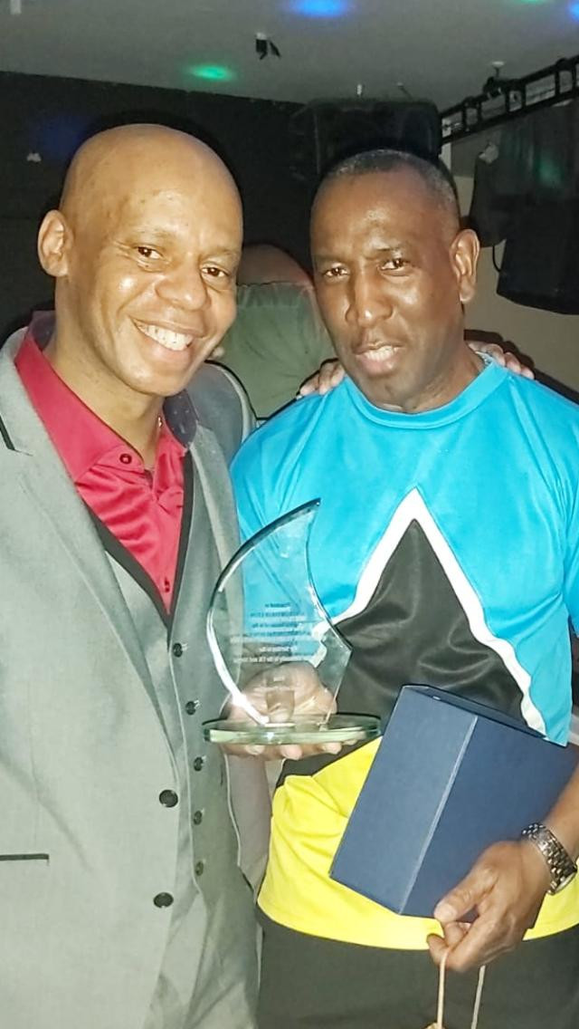 Promoter; Johnathan Emanuel and awardee Bertram Omar Leon