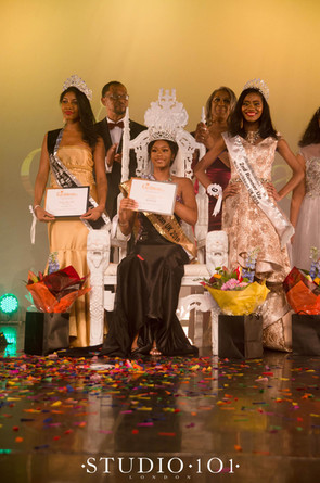 The winners.  Special congratulations to:   •Winner and new Miss Caribbean UK Queen: Tamera Farquharson-Ellis   representing St Kitts and Nevis  •1st Runner Up: -  Mosique Daly-Vidal– Representing Dominica  •2nd Runner Up:  Tabitha Barnett– Representing Guyana