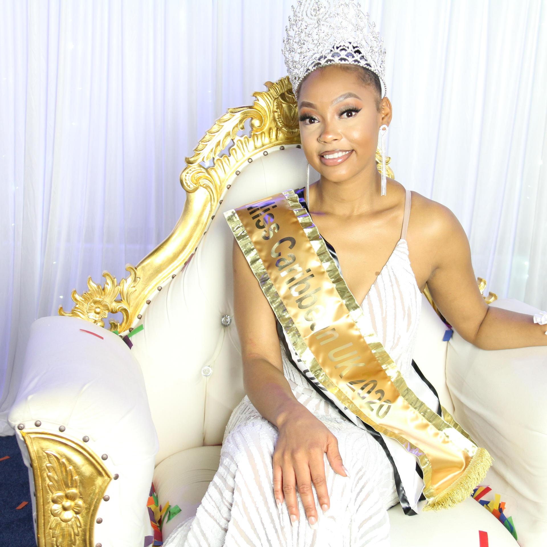 Miss Caribbean UK 2020 Queen - Farrah Grant